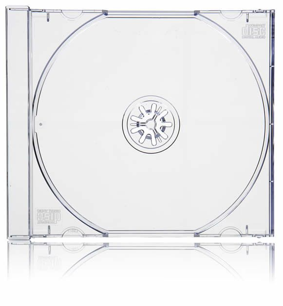 Clear CD Jewel Case Tray machine packable 25 Trays