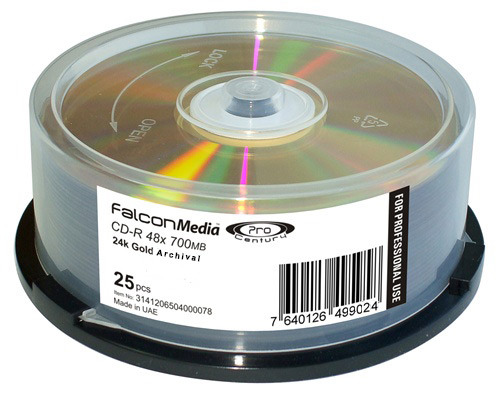 Falcon Pro Archival Gold CD-R White Thermal Printable 52x