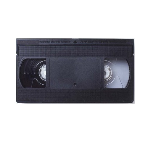 VHS tape professional back coated BASF E60